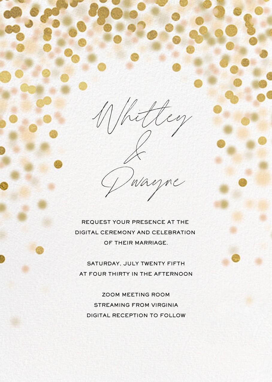 Sparkle Lights (Invitation) - White - Paperless Post - All