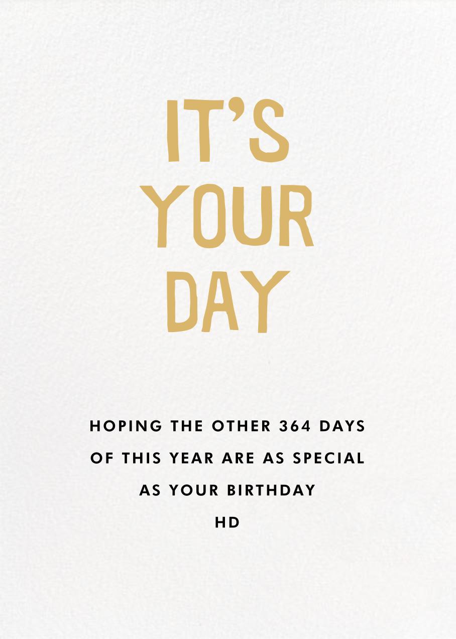 Sunny Birthday - Hello!Lucky - Cameo - card back