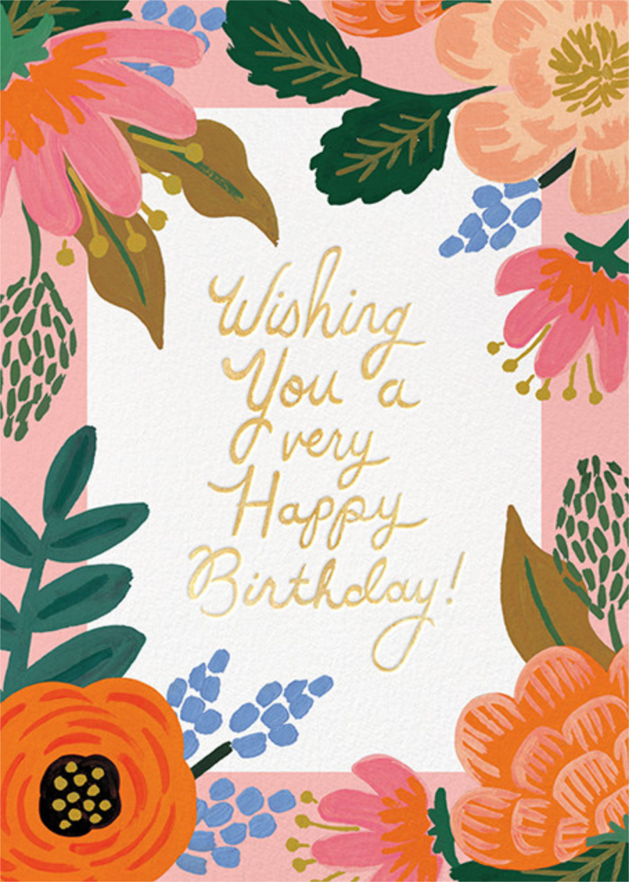 Bordeaux Birthday - Rifle Paper Co. - Cameo