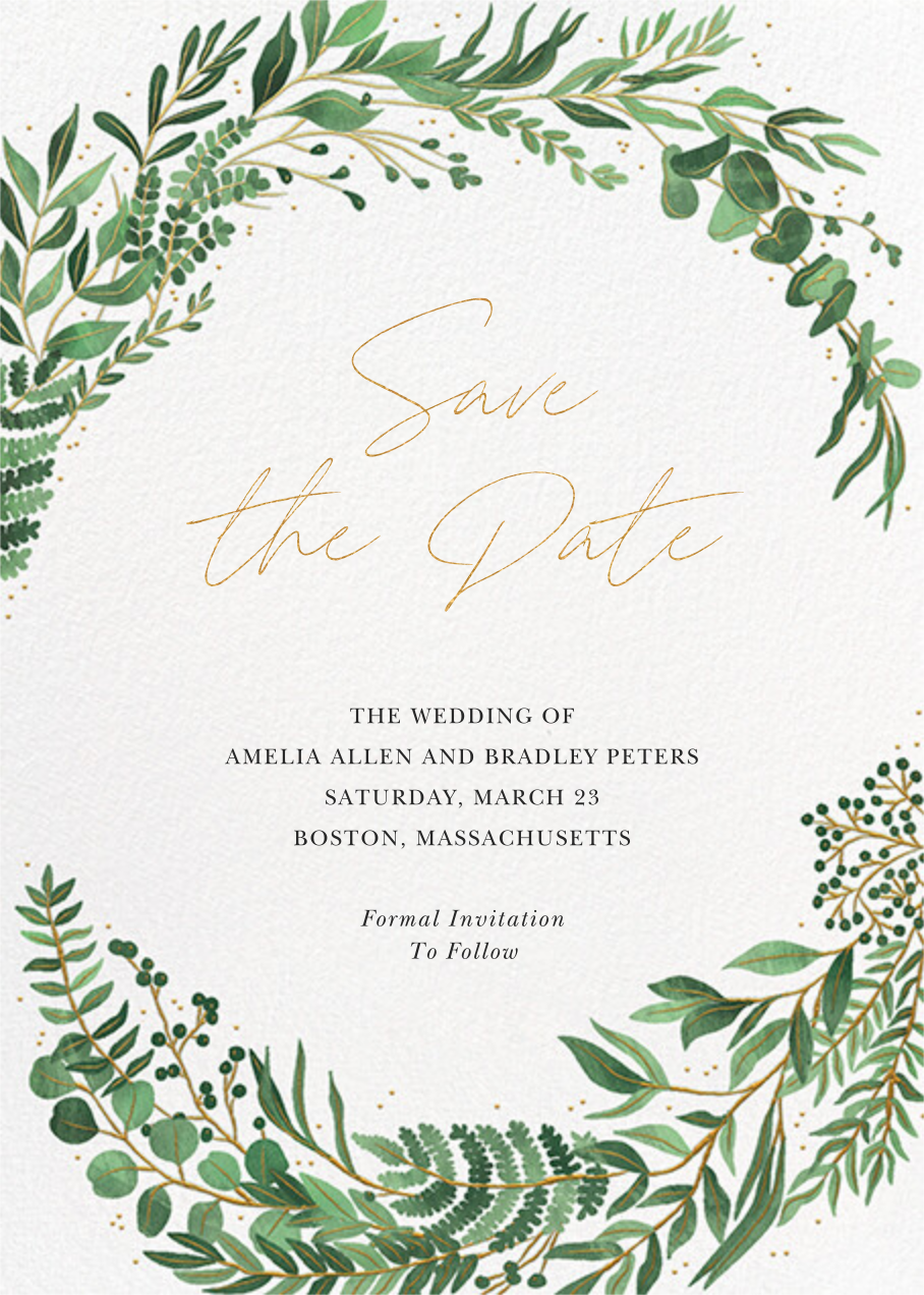 Verde (Save the Date) - Paperless Post - Save the date
