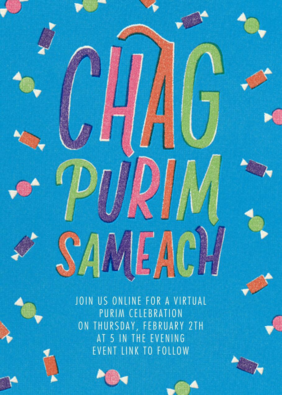 Chag Purim Sameach (Invitation) - Paperless Post