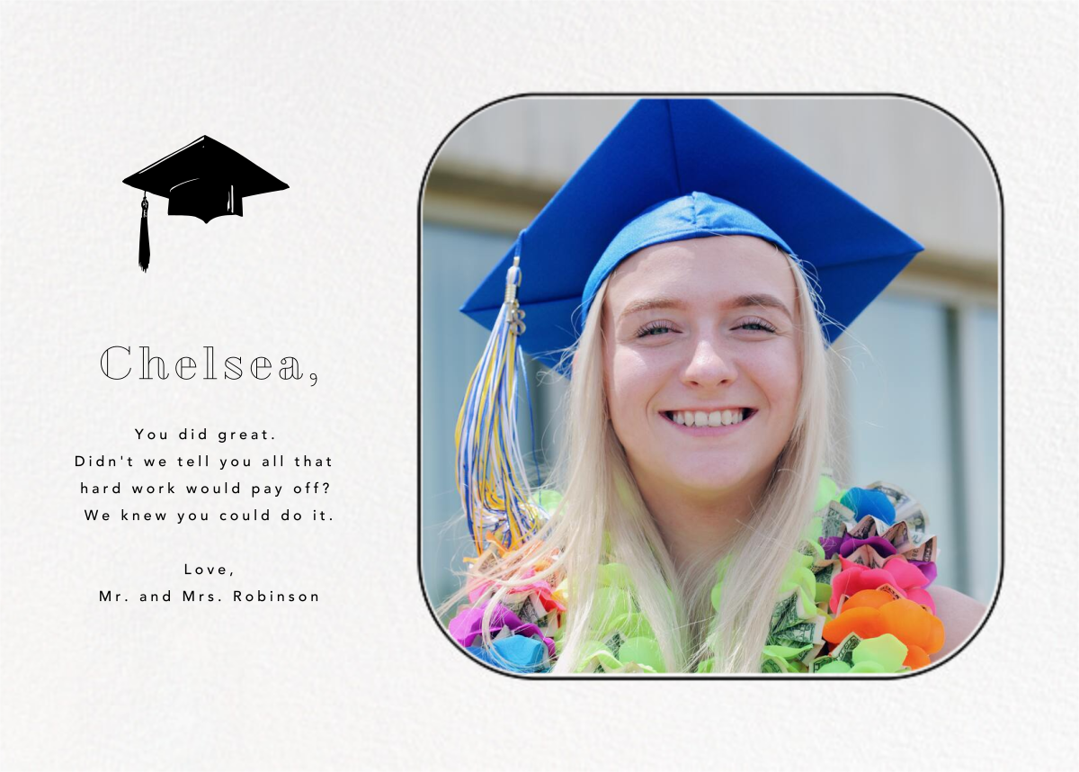 Rounded Corners - Black - Paperless Post - Graduation cards