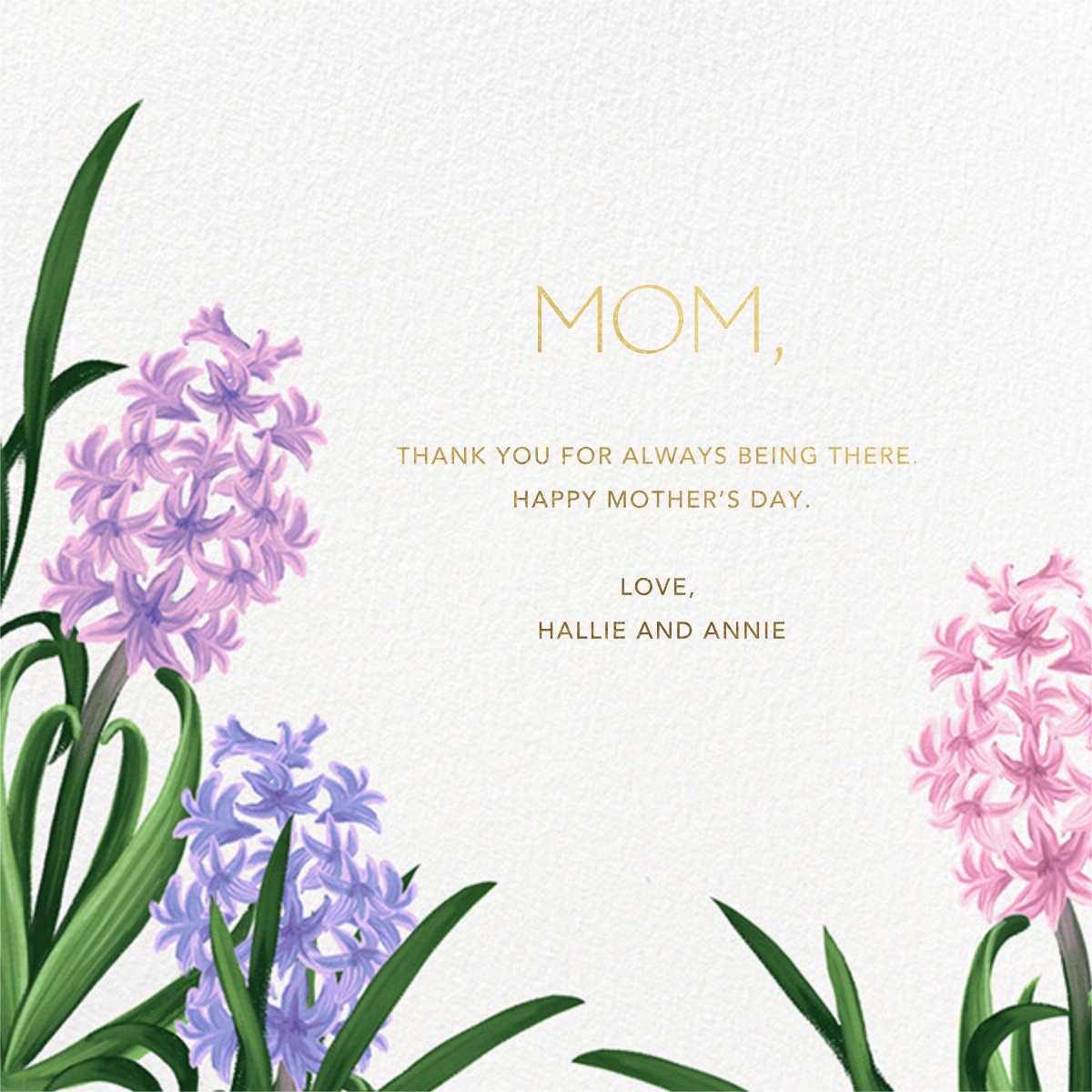 Hyacinth Trio - Paperless Post - Mother's Day
