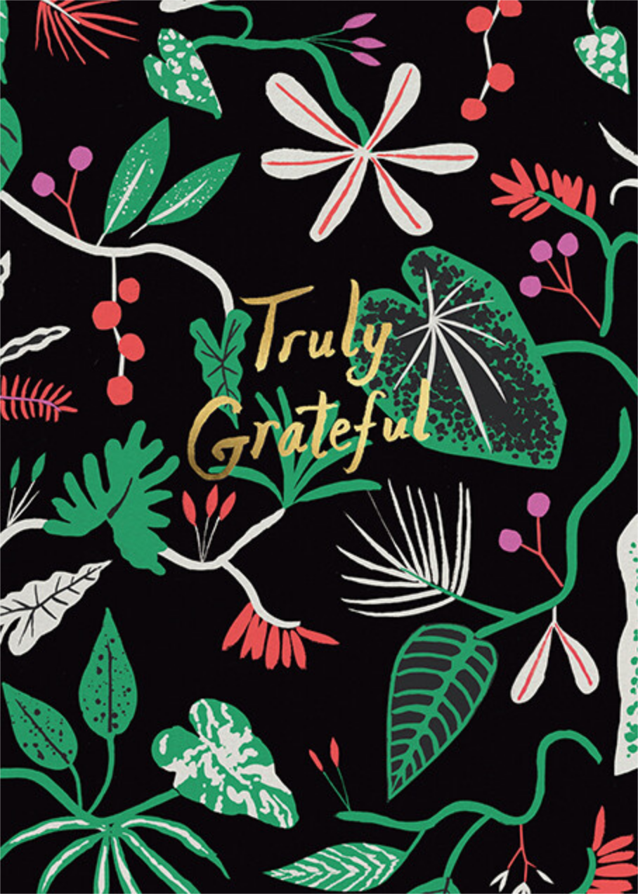 Grateful Foliage (Danielle Kroll) - Red Cap Cards - Thank you