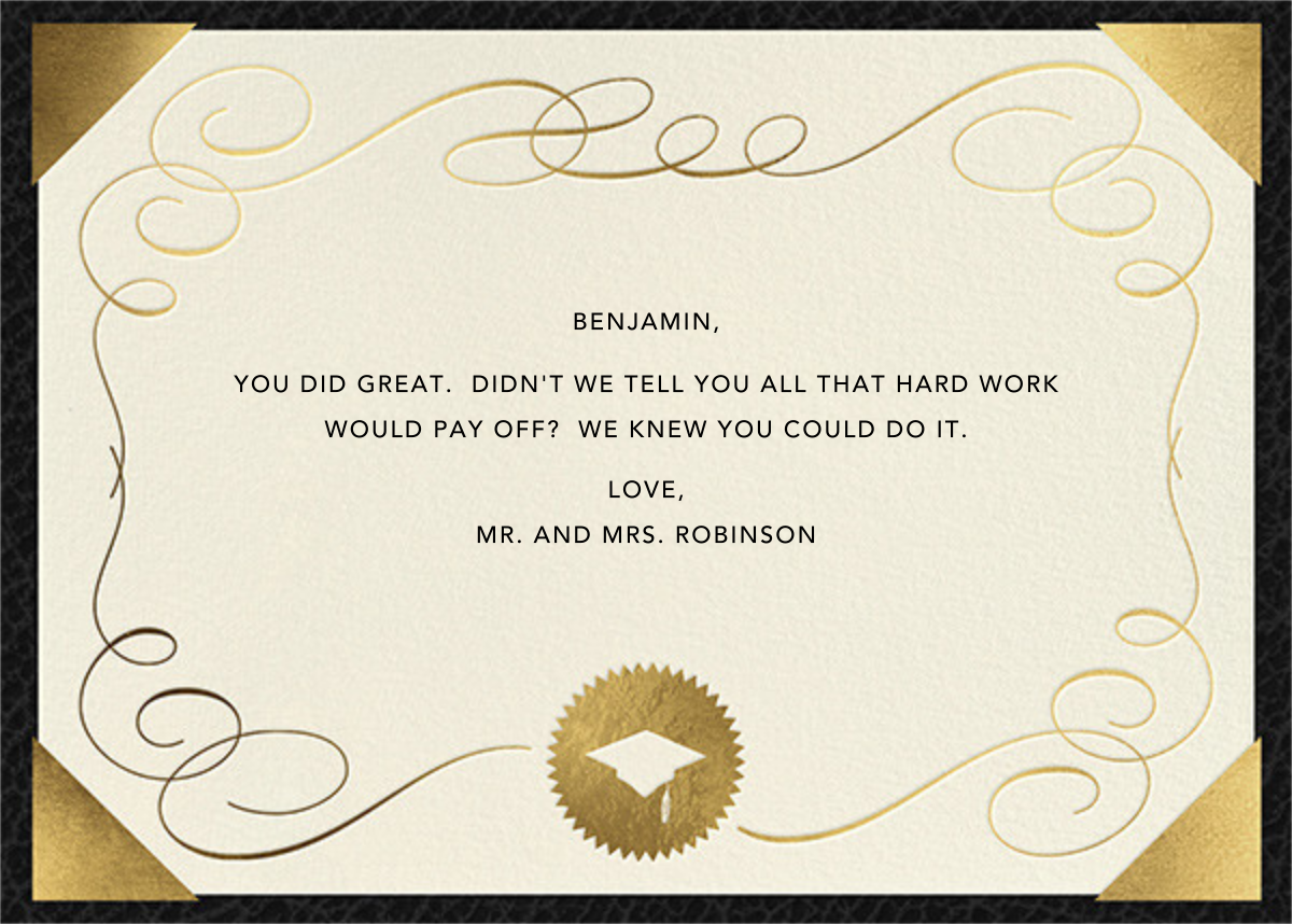 Diploma (Greeting) - Paperless Post - Back
