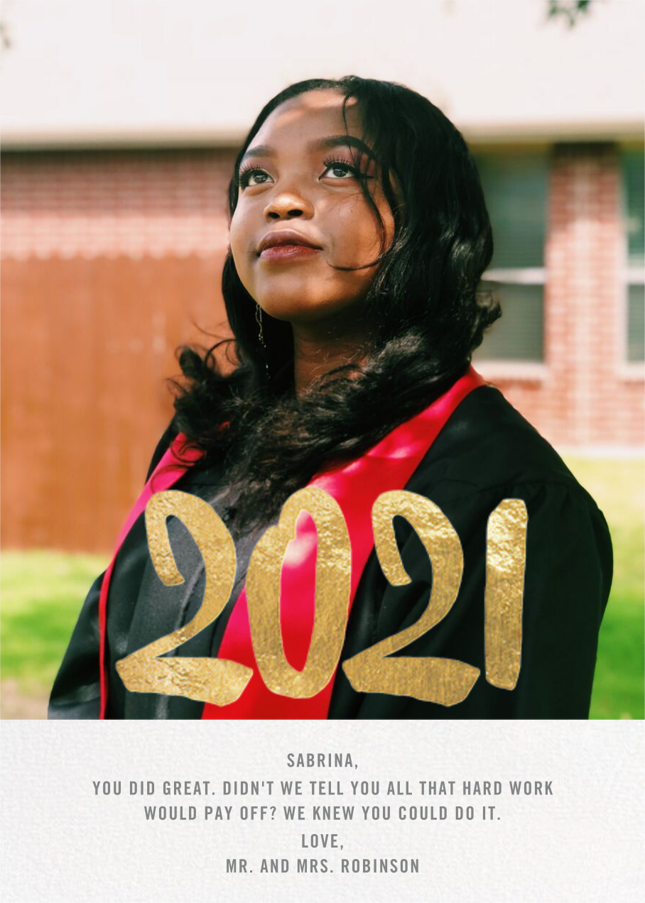 Person of the Year - Gold - Paperless Post - Graduation cards