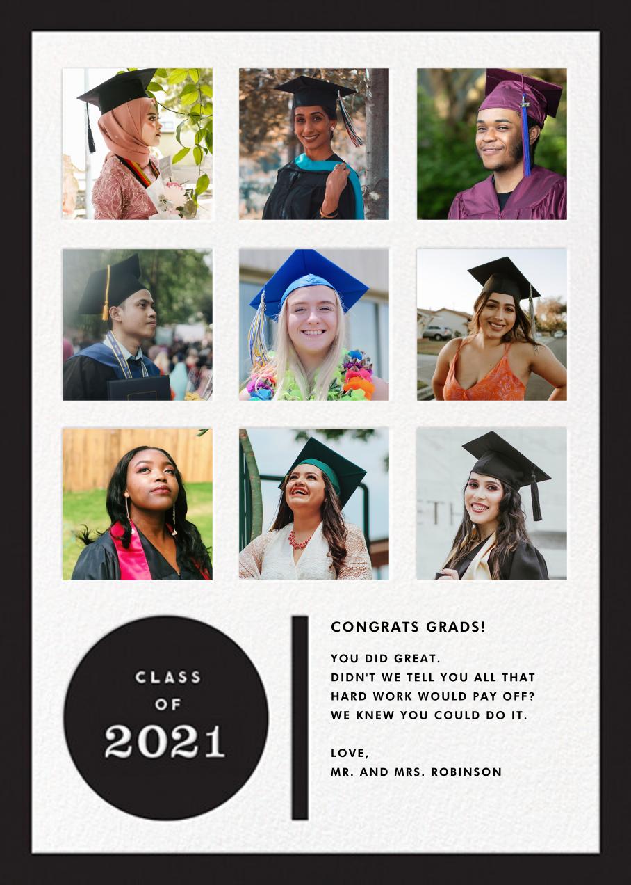 Academic Review - The Indigo Bunting - Graduation cards