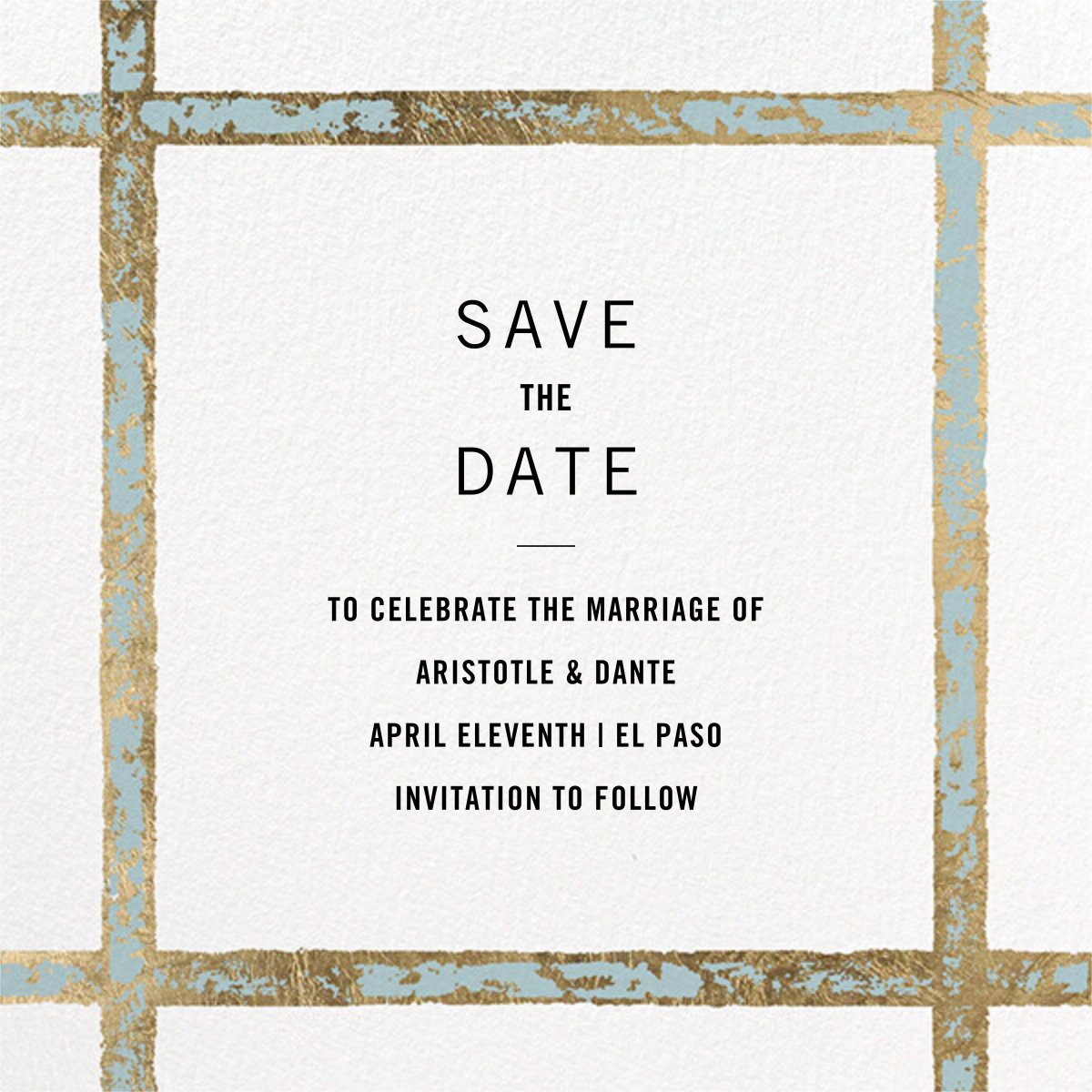 Garde (Square) - Kelly Wearstler - Save the date