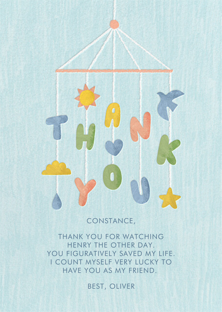 Thankful Mobile - Paperless Post - Thank you
