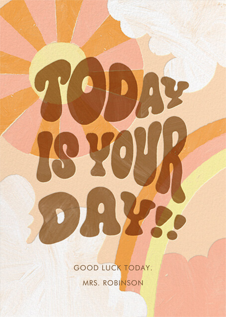 Happy Skies - Paperless Post - Good luck