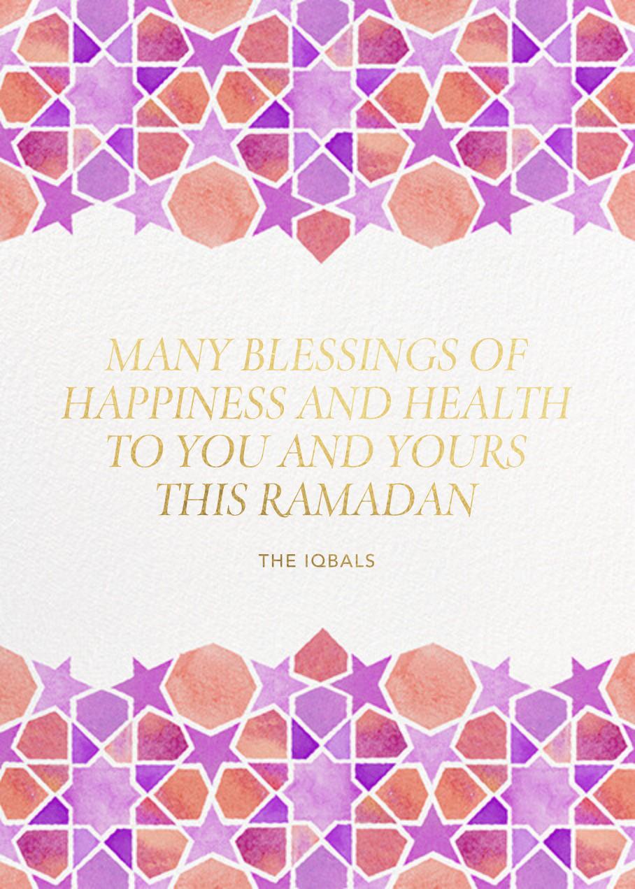 Starry Mosaic Photo - Paperless Post - Ramadan and Eid - card back