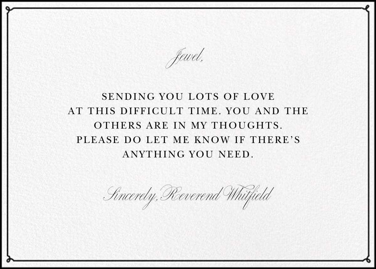 Condolences - Paperless Post - Sympathy - card back