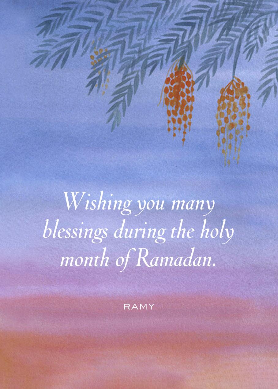 Watercolor Sky - Paperless Post - Ramadan and Eid