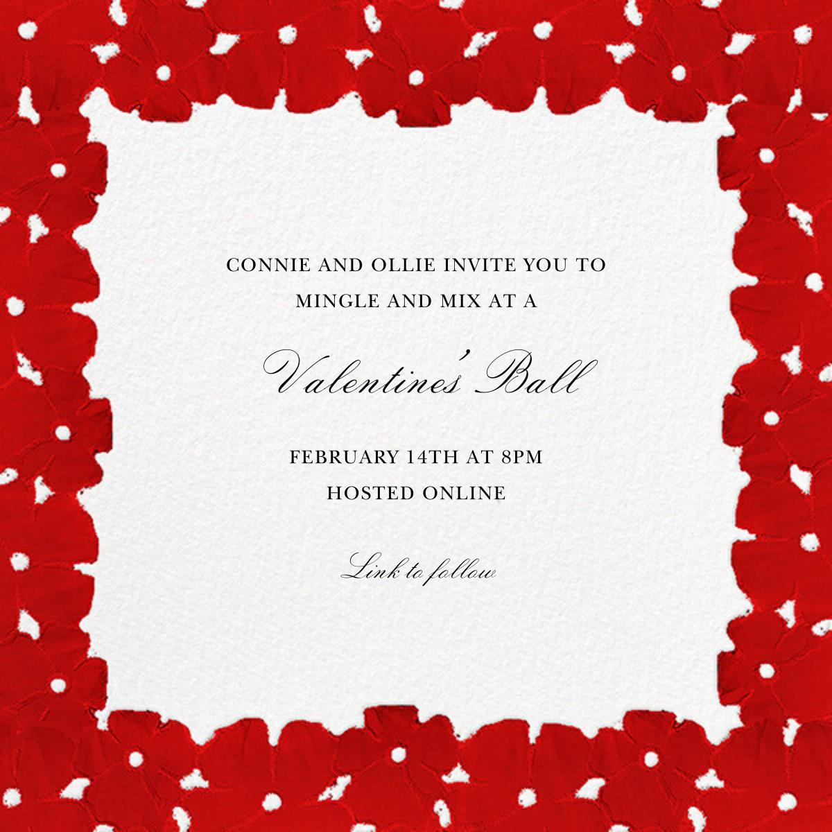 Painted Blooms - Crimson - Oscar de la Renta - Valentine's Day
