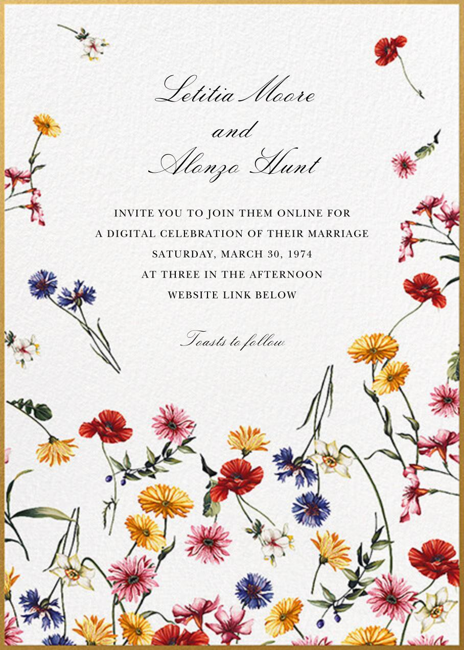 Floating Floral (Invitation) - Oscar de la Renta