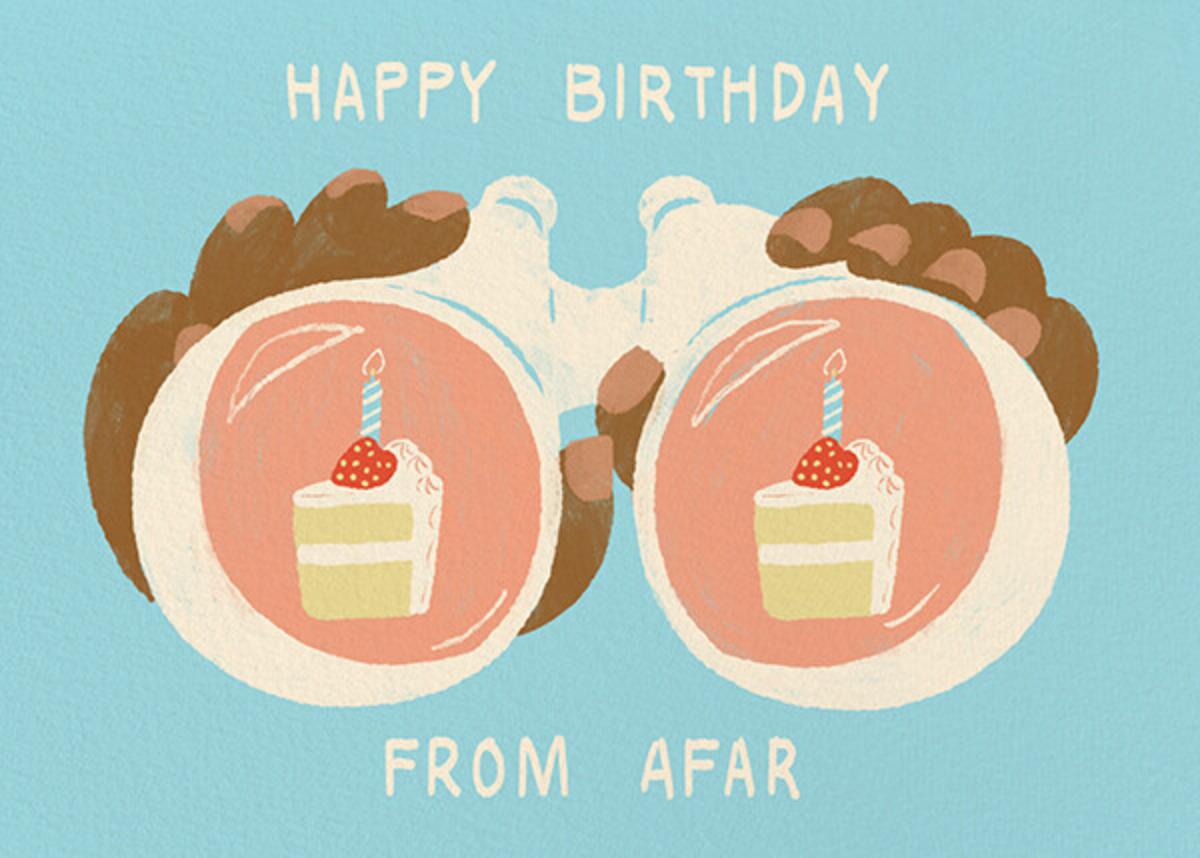 Binocular Birthday - Tan - Paperless Post - Birthday