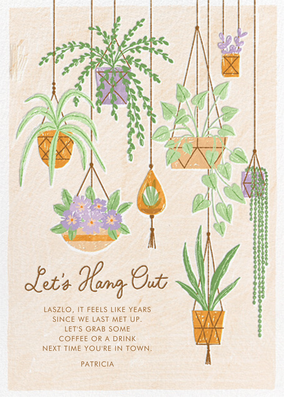 Hanging Plants - Paperless Post - Just because