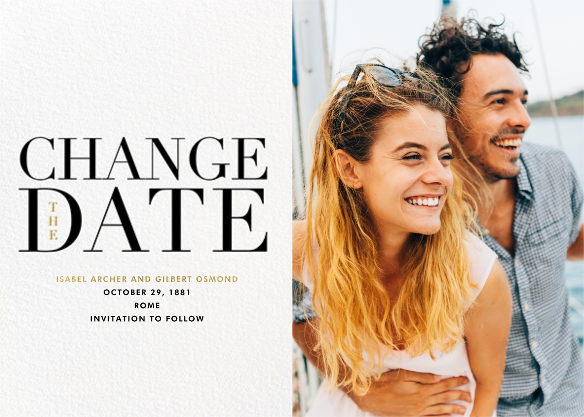 One Fine Date - New Date - Paperless Post - Change the date