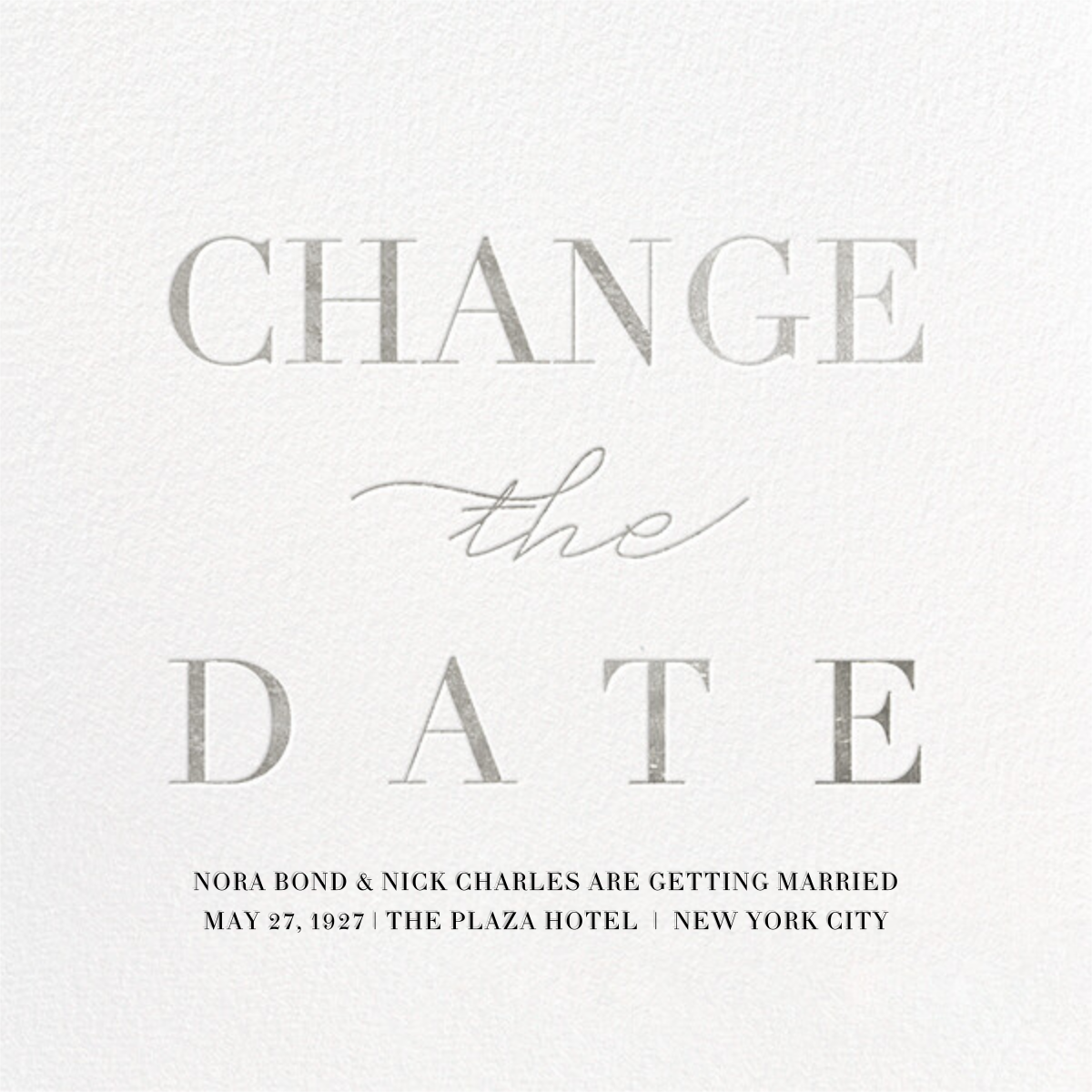 Remnant (New Date) - Silver - Paperless Post - Save the date