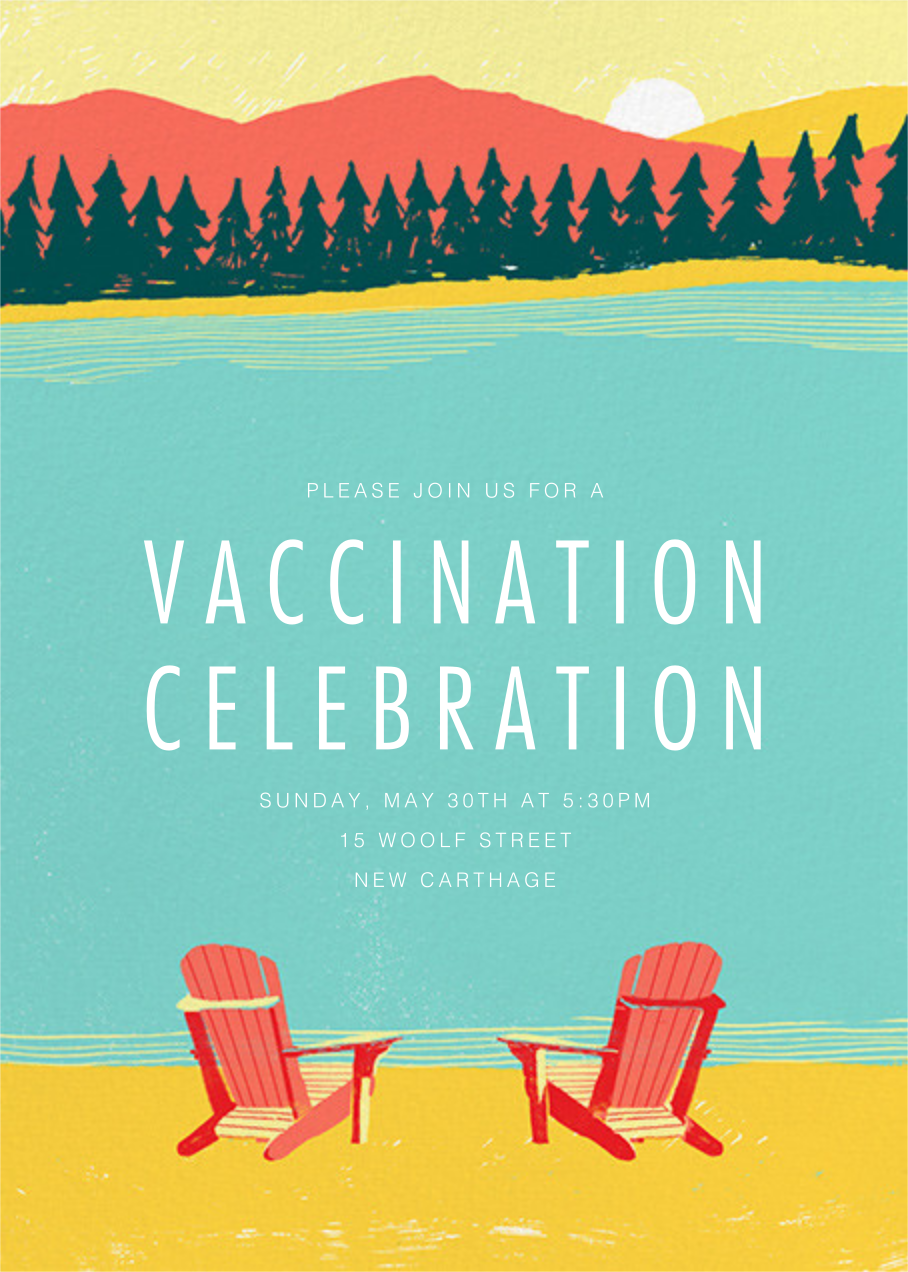 Muskoka Sunset - Paperless Post - Vaccine parties
