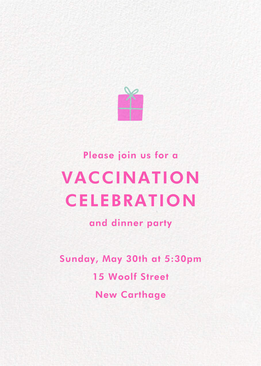 Confetti and Masks - Hello!Lucky - Vaccine parties - card back