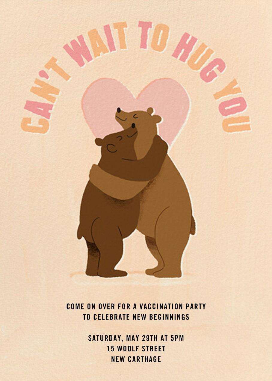 Mama Bear Hug - Paperless Post - Vaccine parties