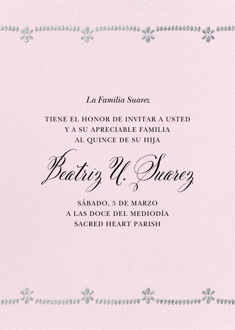 Ornate Occasion Photo - Sweet Pea - Paperless Post - Back