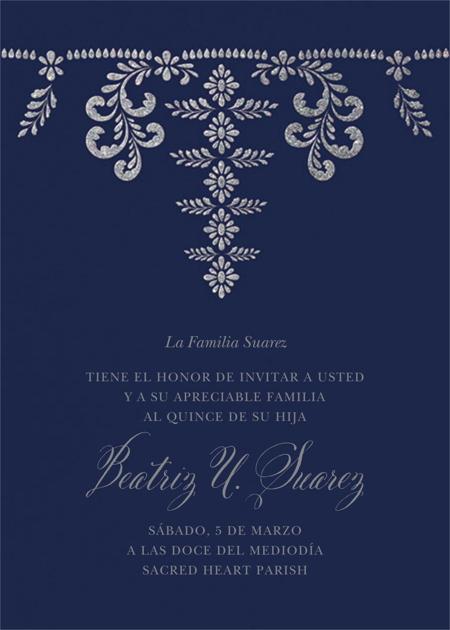 Ornate Occasion - Navy - Paperless Post