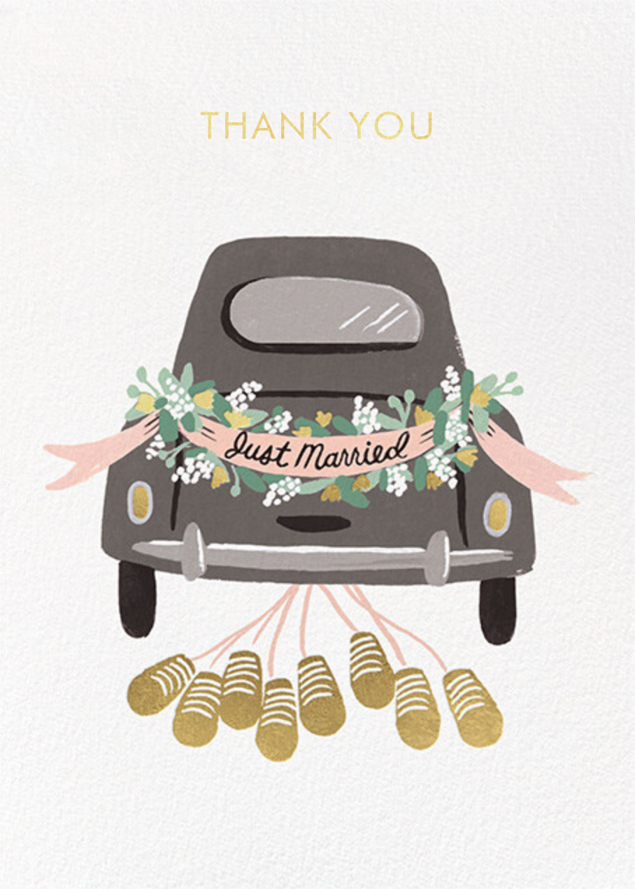 Just Married Getaway Thank You - Rifle Paper Co.