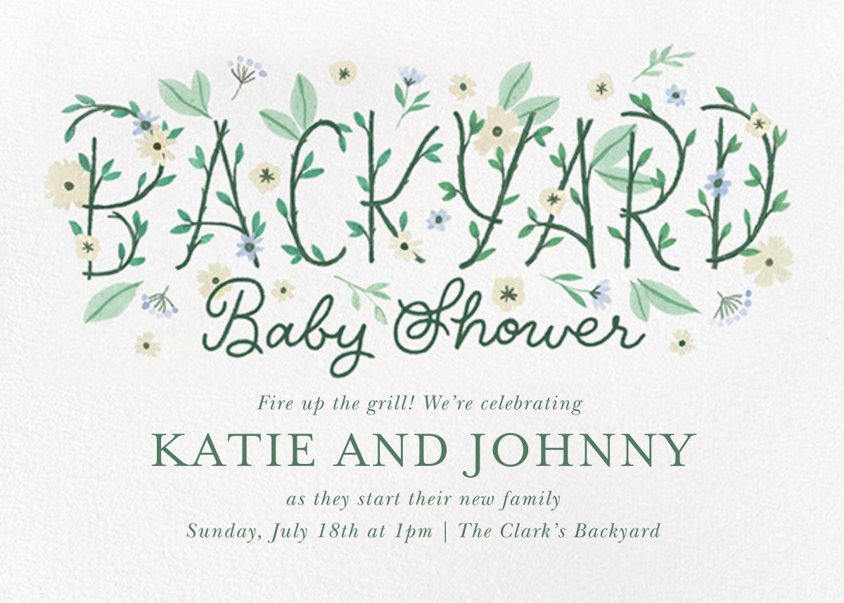 Backyard Blooms - Paperless Post