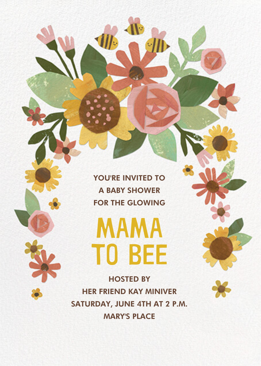 Busy Mama - Paperless Post - Baby shower