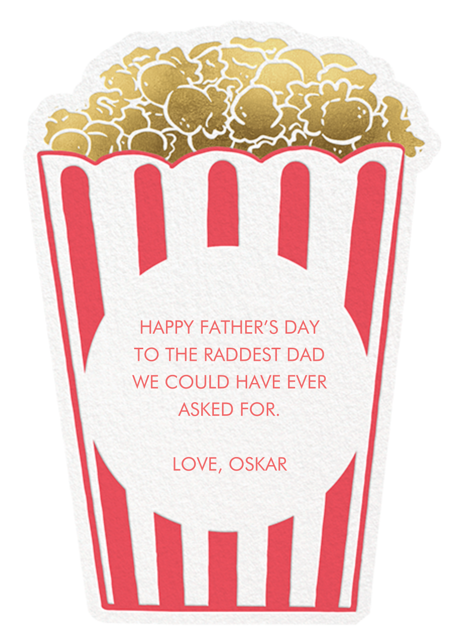 Corny Dad - Hello!Lucky - Father's Day - card back