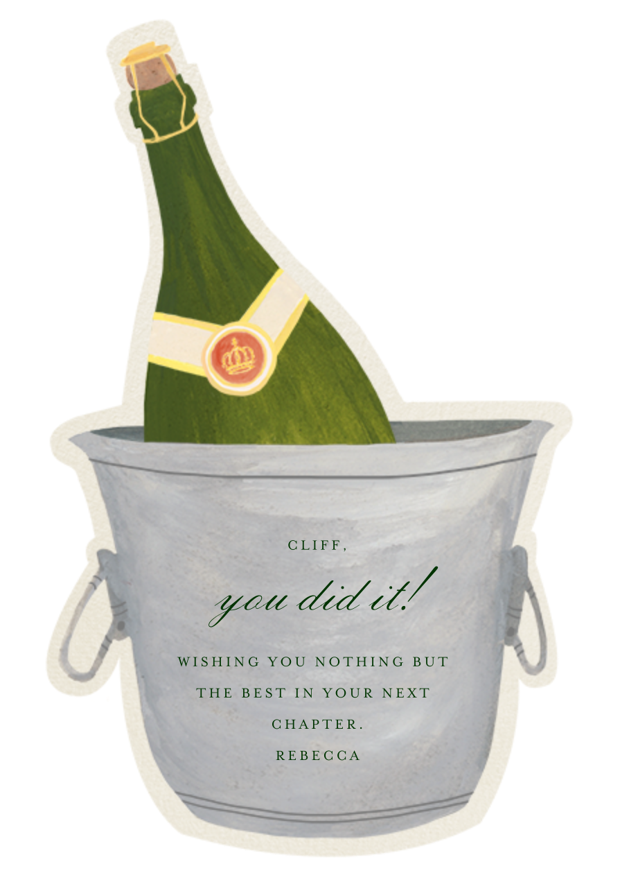 Champagne Bottle - Paperless Post
