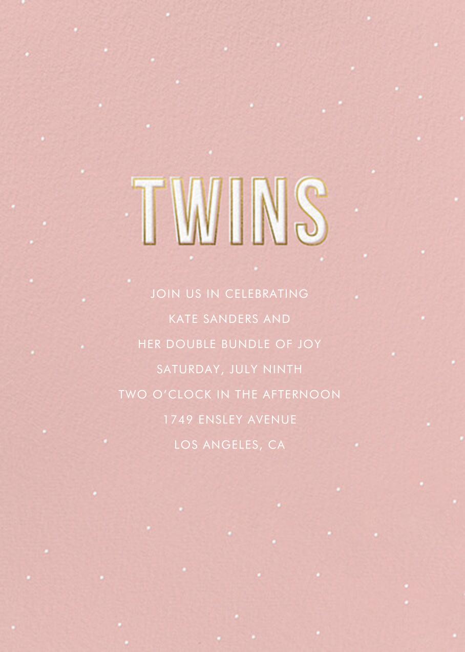 Gold Lines (Twins) - Pavlova - Sugar Paper