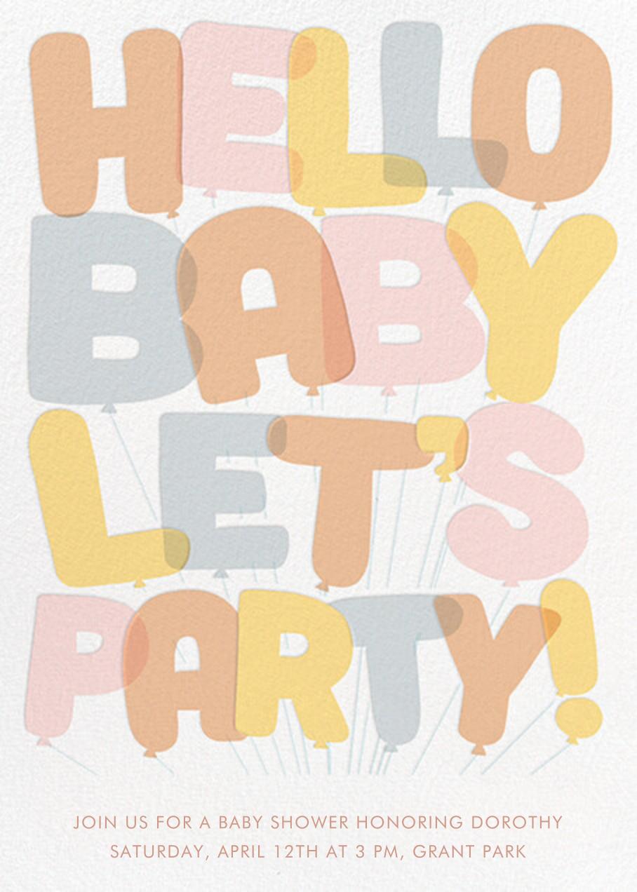 Baby Balloons - Hello!Lucky