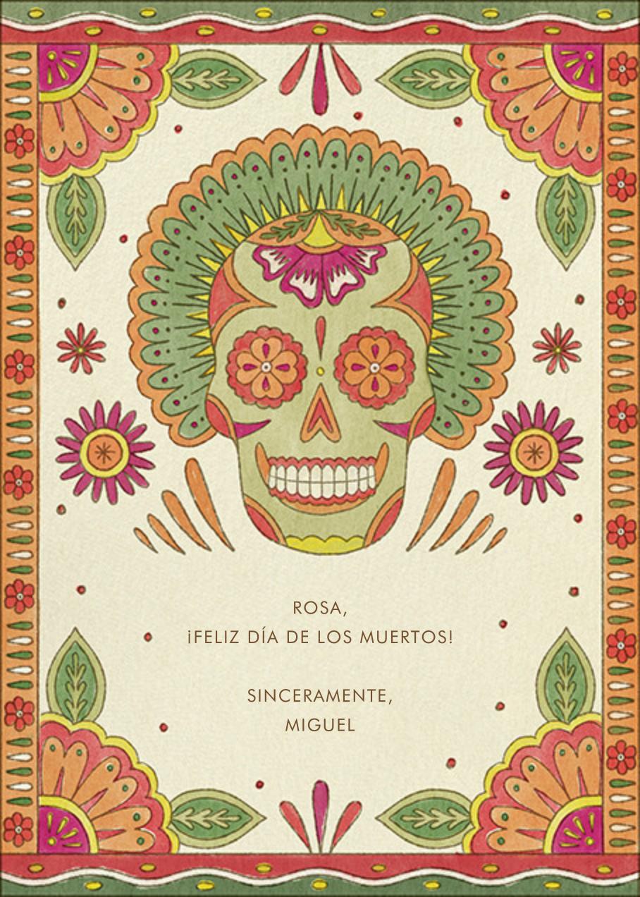 Painted Skull - Paperless Post