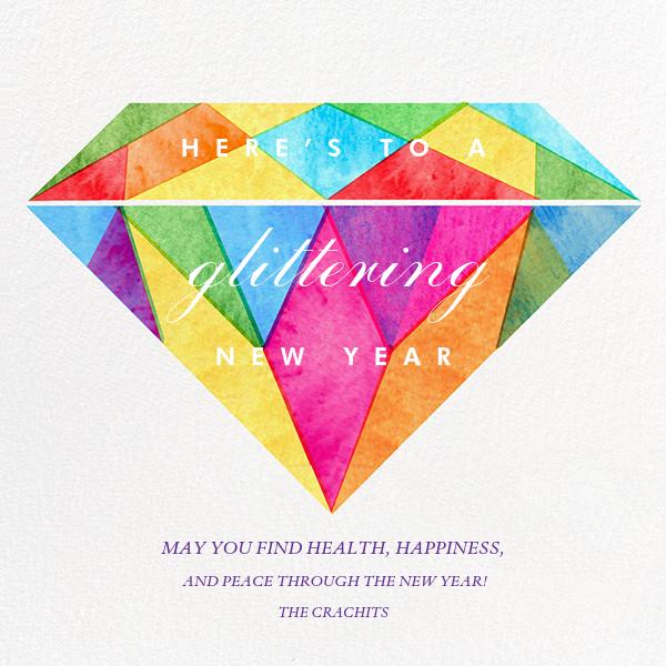 Glittering New Year - Paperless Post - New Year