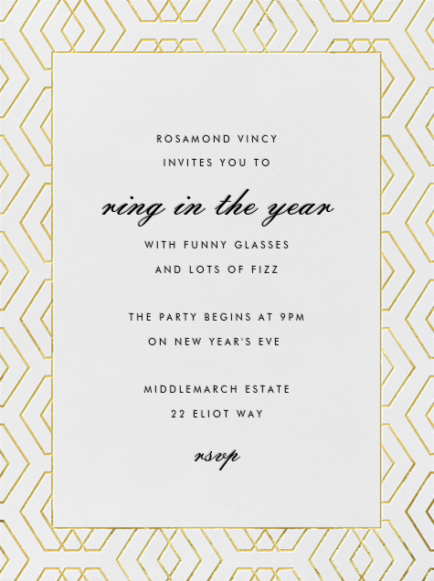 Deco Diamond - Paperless Post - New Year's Eve