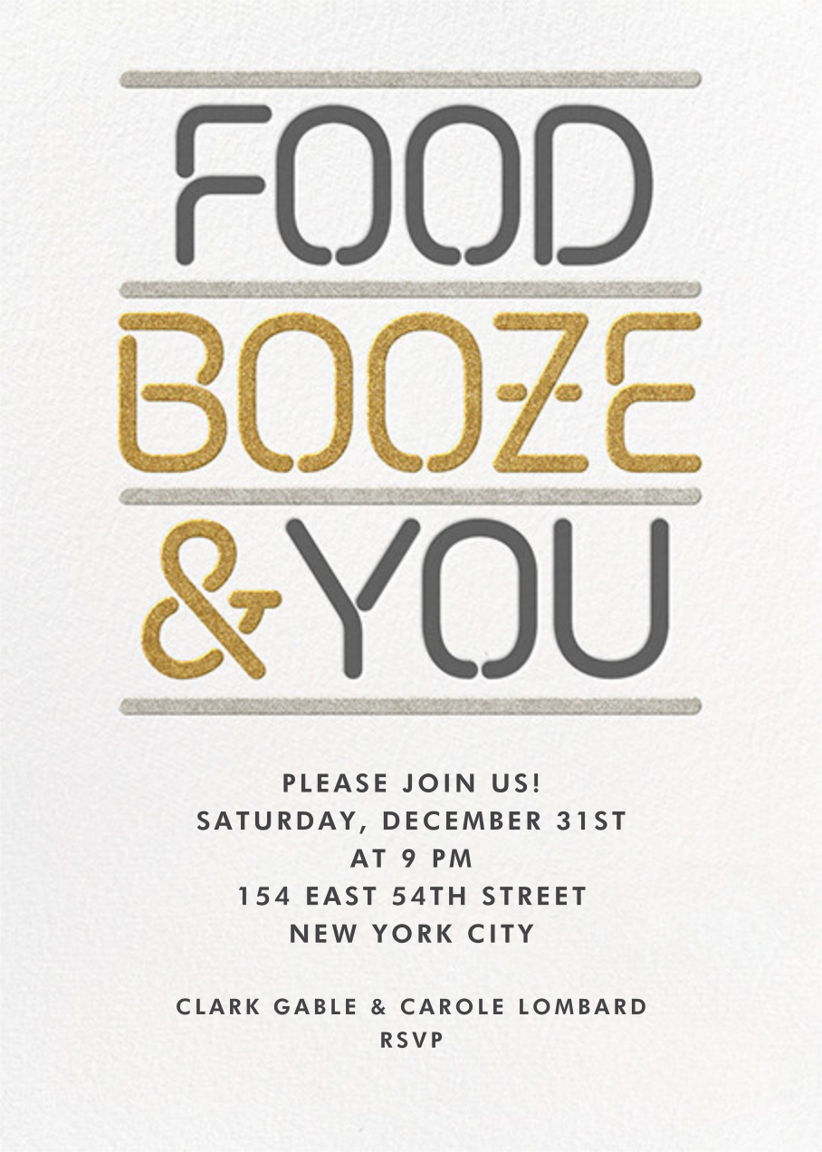 Food Booze and You - Paperless Post - Winter entertaining