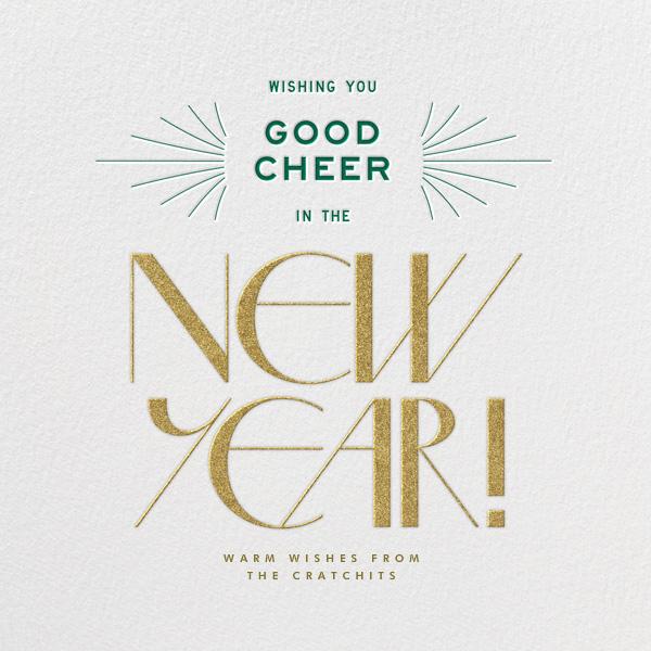 Good Cheer - Ivory - Paperless Post - New Year