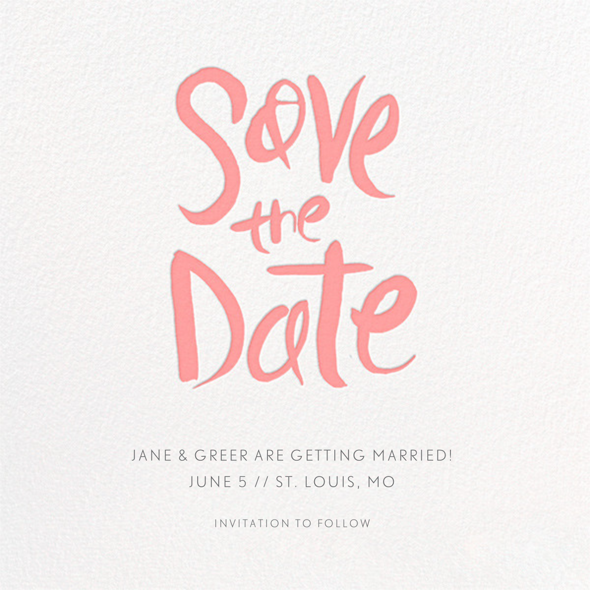 Ink Save The Date - Blossom - Linda and Harriett - Party save the dates