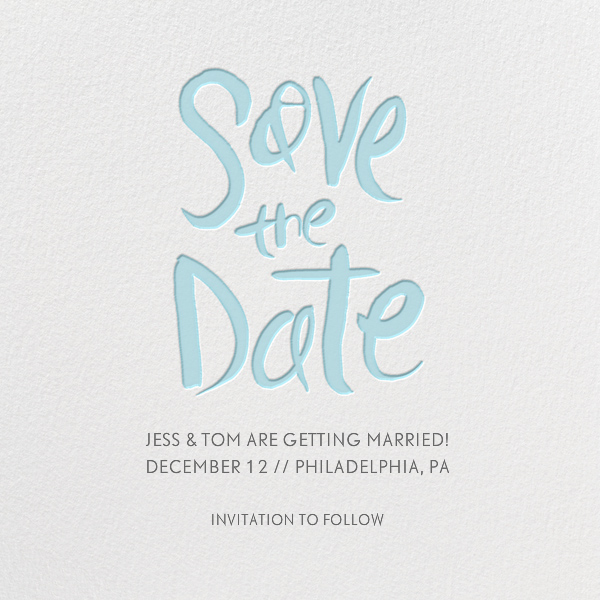 Ink Save The Date - Caribbean - Linda and Harriett - Party save the dates