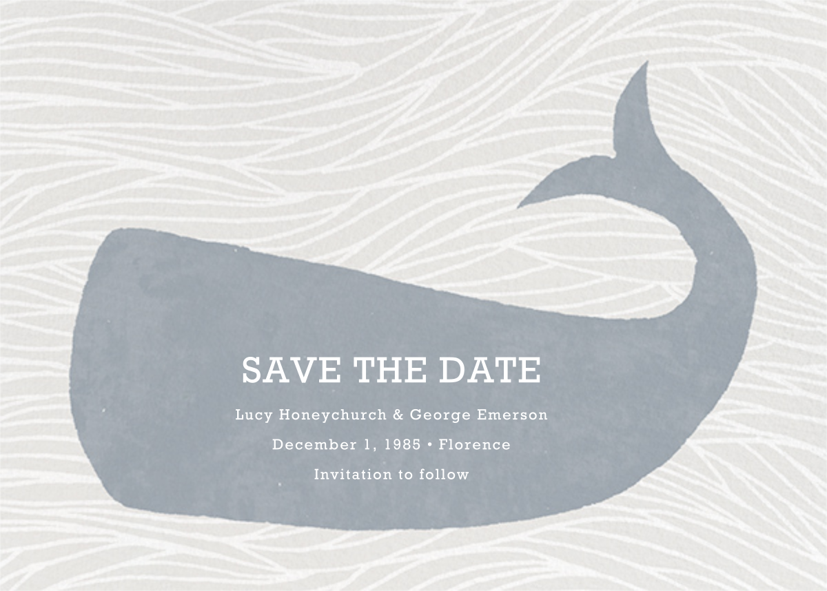 Vintage Whale - Paperless Post - Save the date