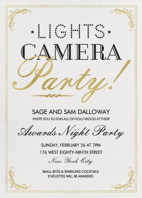 Lights, Camera, Party - Crate & Barrel - Viewing party