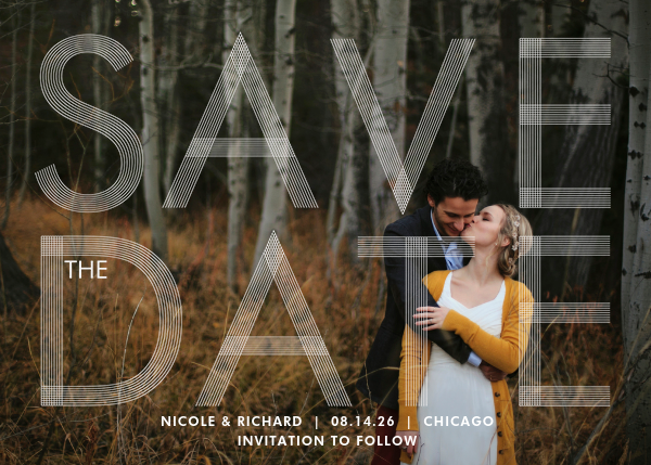 Sellotape (Horizontal) - Paperless Post - Save the date