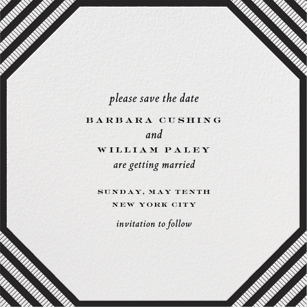 Claridge (Square) - Black - Paperless Post - Party save the dates