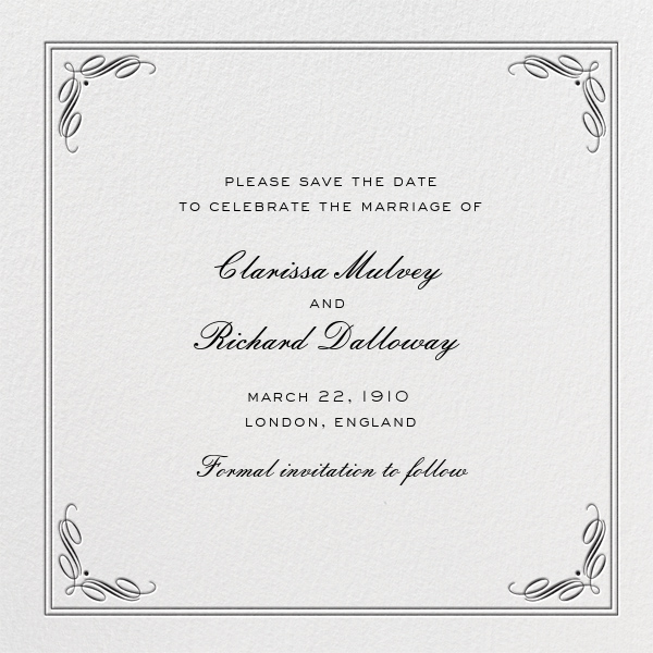 Regency (Square) - Black - Paperless Post - Party save the dates
