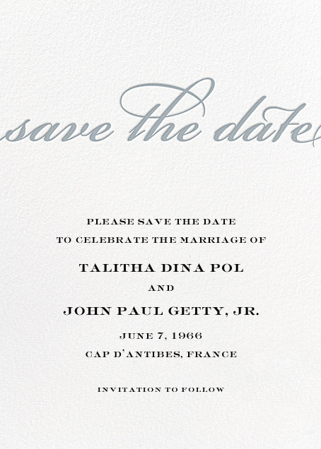 Simple Script (Save the Date) - Pacific - Paperless Post - Party save the dates