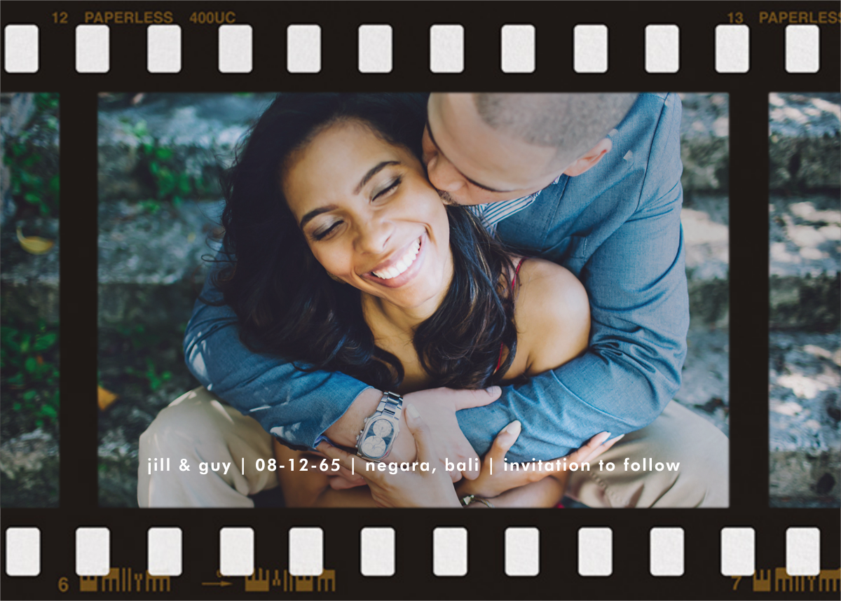 Film Still (Horizontal) - Paperless Post - Save the date