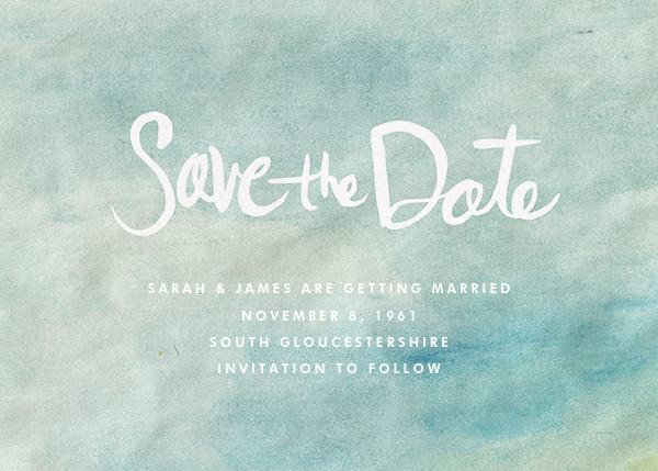 Watercolor Backdrop - Linda and Harriett - Save the date